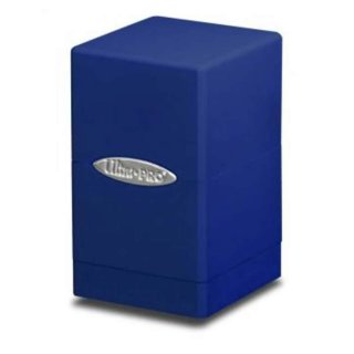 Blue Satin Tower Deck Box