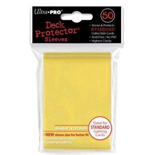 Ultra Pro Kartenhüllen Gelb 50 Stück Standard