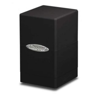Black Satin Tower Deck Box