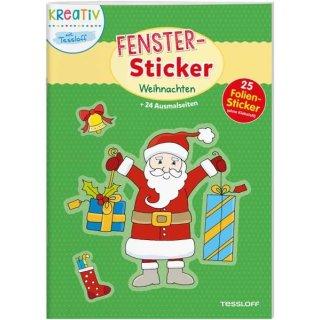 Fenstersticker Malbuch Weihnachten