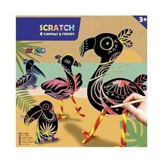 Scratch Flamingos