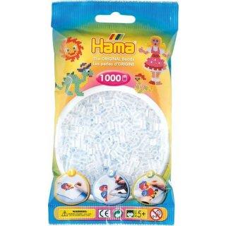 Hama Bügelperlen 1000 Stück Durchsichtig