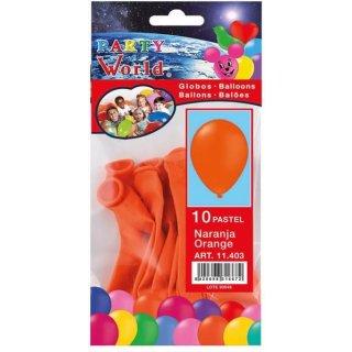 Luftballons orange 10 Stk
