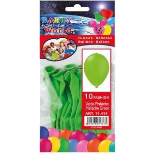 Luftballons grün 10 Stück
