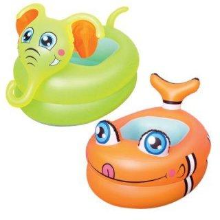 1 Baby-Pool mit Tierkopf aufblasbarer Boden 89x61x58cm