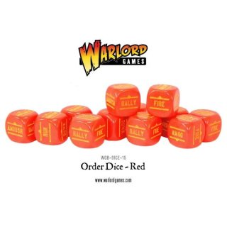 Bolt Action Orders Dice - Red (12) Würfel