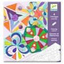 Ausmalbild Mandala Rosseten Kolorieren mit Überraschung DJECO
