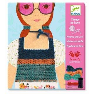 Wollbilder: Mädchen mit rosa Brille von DJECO