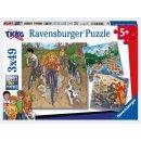 Ravensburger Puzzle 3x49T Abenteuer mit TKKG
