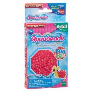 Aquabeads Nachfüllpackung 600 Glitzerperlen, rot