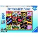 Ravensburger Puzzle 100 Teile  XXL Rennwagen Pinnwand