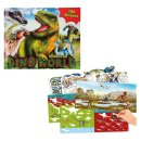 Depesche Malbuch Dino Stickerfun mit Stickerbogen