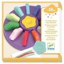Farben: 12 Blumen-Wachsmalkreiden für die Kleinen von DJECO