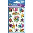Z Design Creative Papier Sticker Stiefmütterchen