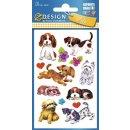 Z Design Kids Papier Sticker Hunde