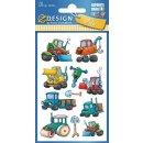 Z Design Kids Papier Sticker Baumaschinen