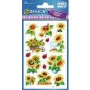 Z Design Creative Papier Sticker Sonnenblumen glitzernd