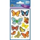 Z Design Creative Papier Sticker Schmetterling