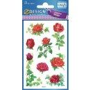 Z Design Creative Papier Sticker Rosen und Efeu
