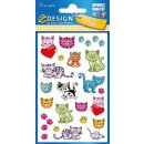 Metallic Sticker süße Kätzchen!
