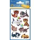 Z Design Kids Papier Sticker Katzen