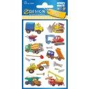 Z Design Kids Sticker Papier Baustelle