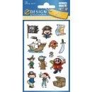 Z Design Kids Design Papier Sticker Piraten