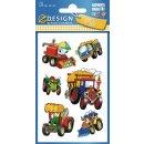 Z Design Kids Papier Sticker Traktor