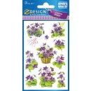 Z Design Creative Sticker Papier Veilchen