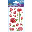 Z Design Creative Papier Sticker Rosen permanent