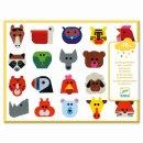 Sticker: Lustige Tierköpfe von DJECO