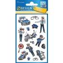 Z Design Kids Sticker Metallic Polizei