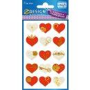 Z Design Premium Creative Papier Sticker Herzen