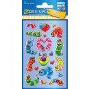 Z Design Kids Sticker 3D Raupen permanent
