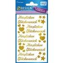 Z Design Creative Folien Sticker Herzlichen Glückwunsch