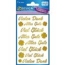 Z Design Premium Creative Papier Sticker Schriftzug