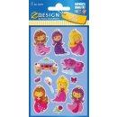 Sticker Prinzess Glossy 1 Bogen Z-Design