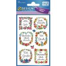 Z Design Creative Papier Sticker Widmung glitzernd