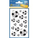 Z Design Kids Papier Sticker Fußbälle