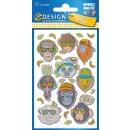 Puffy Sticker für Kids Affen 1 Bogen Z-Design