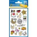 Puffy Sticker für Kids Symbole 1 Bogen