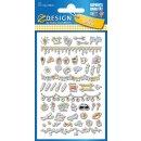 Puffy Sticker für Kids Icons 1 Bogen Z-Design