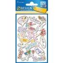 Puffy Sticker für Kids Ausdrücke 1 Bogen