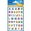 Z-Design Sticker Buchstaben mit Glitzer 1 Bogen