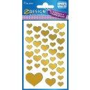 Z Design Creative Folien Sticker Goldene Herzen 1 Bogen