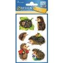 Z Design Kids Papier Sticker Igel permanent haftend 18...