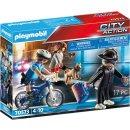 PLAYMOBIL® City ActionPolizei-Fahrrad: Verfolgung des Taschendiebs