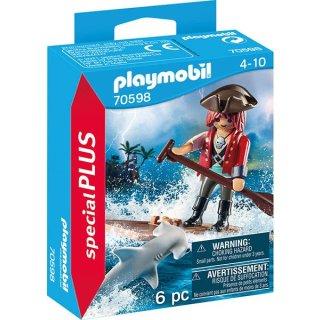 PLAYMOBIL® specialPLUS 70598 Pirat mit Floß und Hammerhai
