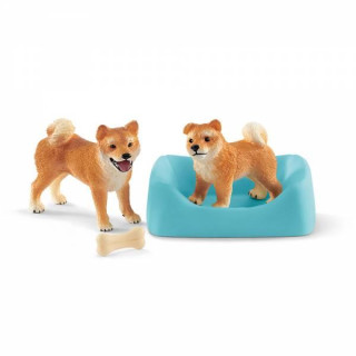 Schleich® Farm World Shiba Inu Mutter und Welpe