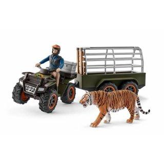 Schleich® Wild Quad mit Anhänger und Ranger